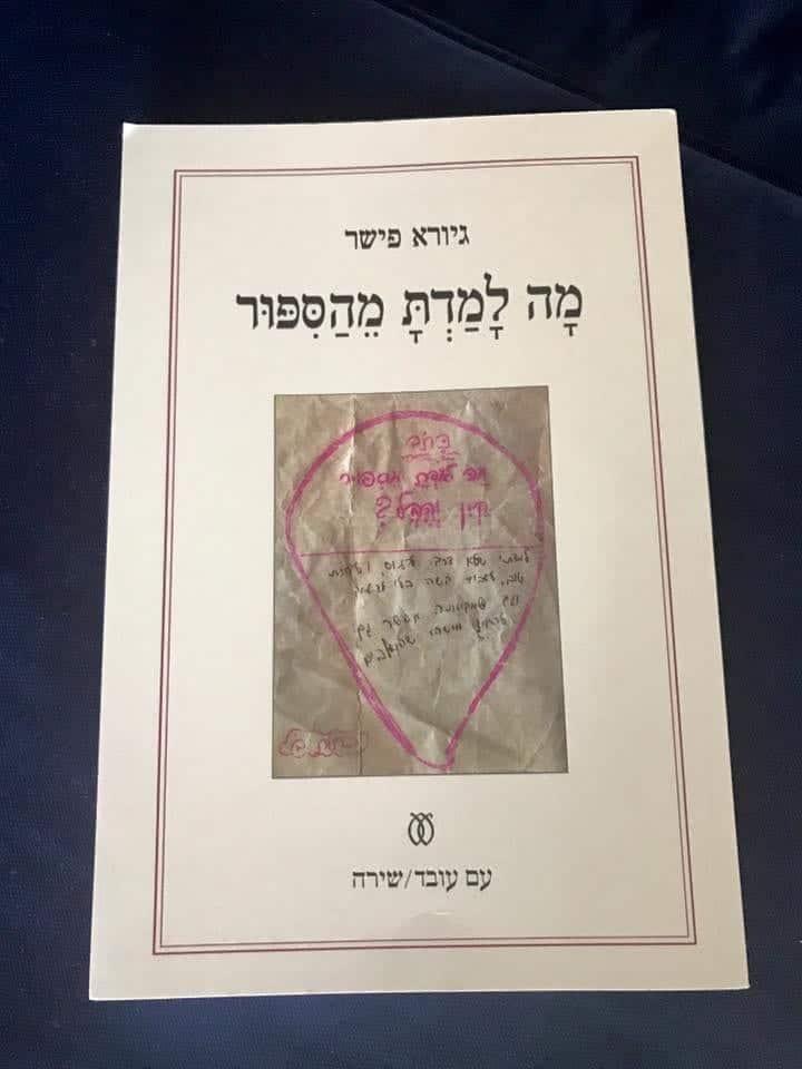 מה למדת מהסיפור- ספר שיריו החדש של גיורא פישר